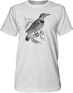 Mintage Lookout Bird Mens Fine Jersey Tall T-Shirt