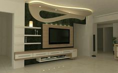 Browse our gallery of modern TV wall units and tips for how to integrate the modern TV wall unit designs for living room and modern TV stands in the living room interior, modern TV units Tv Wall, Celling Design, Modern Tv Wall Units, False Ceiling Design, Living Room Tv Cabinet Designs, Tv Unit Furniture Design, Tv Room Design, Wall Unit