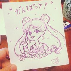 A little boost for my little sister! #doodle #sailormoon #gift