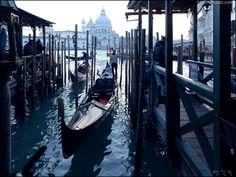 gondola and Chiesa di San Giorgio Maggliore/Venice,Italy  photo by Bang, Chulrin /20150214