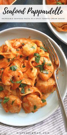 Top Recipes, Cooking Recipes, Healthy Recipes, Recipes Dinner, Sauce Recipes, Recipies, Sauce A La Creme, Scallop Pasta, Seafood Pasta Recipes