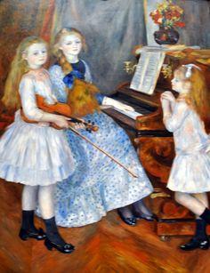 Pierre Auguste Renoir - The Daughter's painting at New York Metropolitan Art Museum   by mbell1975
