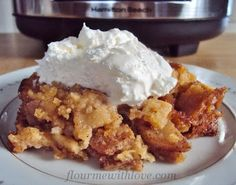 "I will have to have this cooking when I go to bed the next time the weatherman says , "" when you wake up in the morning the temperature will already be in the 70's and the humidity about the same""   Flour Me With Love: Slow-Cooker Apple Pie"