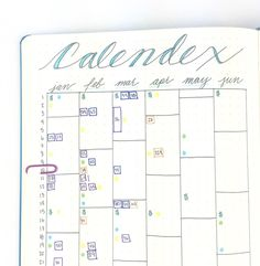 Here's how Boho Berry uses the Calendex system to future plan in her bullet journal.
