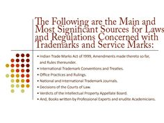 What are the Sources of Laws and Regulations related with Trademarks and Service Marks?