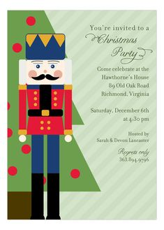 """Holiday <a class=""""pintag searchlink"""" data-query=""""%23Nutcracker"""" data-type=""""hashtag"""" href=""""/search/?q=%23Nutcracker&rs=hashtag"""" rel=""""nofollow"""" title=""""#Nutcracker search Pinterest"""">#Nutcracker</a> Invitation  <a class=""""pintag searchlink"""" data-query=""""%23HolidayParty"""" data-type=""""hashtag"""" href=""""/search/?q=%23HolidayParty&rs=hashtag"""" rel=""""nofollow"""" title=""""#HolidayParty search Pinterest"""">#HolidayParty</a>"""