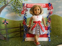 """American Girl fitting 4th of July doll clothes will fit similar 18"""" dolls by sewcutejune on etsy.com and ebay.com"""