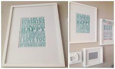 You are my Sunshine printable for upstairs bathroom