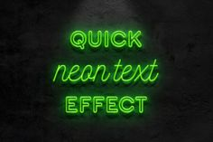 Neon text effect by Evlogiev on @creativemarket