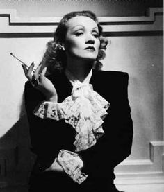 Marlene Dietrich. She left Germany in 1930 and was always more an American Movie Star than European. Marlene used her stardom to create the underground railroad that any number of Refugees of the Nazi regime used to escape to the U.S. Dietrich refused Hitler's demands to return to Germany to become a representation of Arian womanhood. Soldier, Veteran and the Great Cabaret Entertainer. Knowing when to retire behind the veil. Protecting what she thought we wanted to remember.