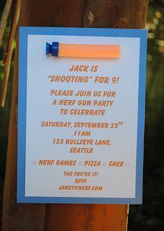 NERF Birthday Party Ideas Nerf birthday party Birthday party