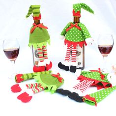 New Fashion Christmas Decoration Wine Bottle Cover Bags Xmas Dinner Party Gift #Unbranded