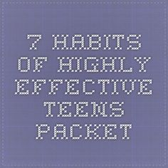7 Habits of Highly Effective Teens Packet