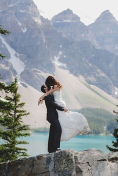 Stunning image from @envphotography in the Candian Rockies via @luxemtweddings