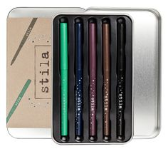 Stila Color Outside The Lines Smudge Stick Waterproof Eye Liner Set {$100 Value} #Giveaway #Contest Set Contains 5 Shades :  emerald (green) | navy (blue) | aubergine (burgundy) stingray (black) | lionfish (brown) | ENTER HERE: http://www.glam-express.com/share Ends 04/01/14