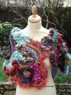 Châle Louise. freeform crochet