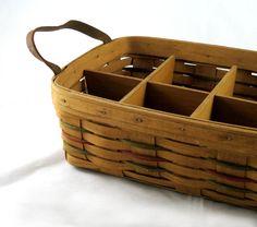 Longaberger Basket  Divided Serving Basket  1987 by NikNakNook, $16.50
