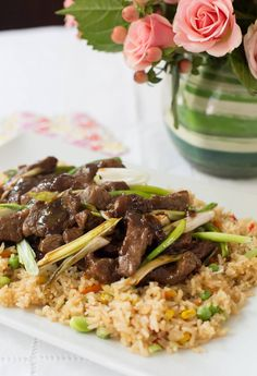 Easy Mongolian Beef (non-spicy) Sponsored by Kroger Easy Mongolian Beef, Mongolian Beef Recipes, Latin American Food, Latin Food, Quick Recipes, Cooking Recipes, Cooking Tips, Chilean Recipes, Chilean Food