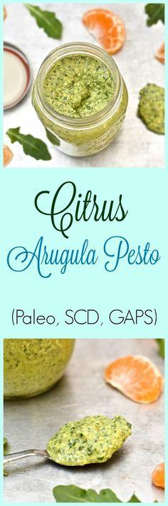 Pure and Simple Nourishment : Citrus Arugula Pesto (Paleo, Vegan, SCD, GAPS)
