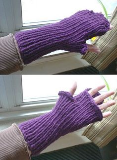 Golden Compass Mitts, has flap that wraps around fingers! free pattern