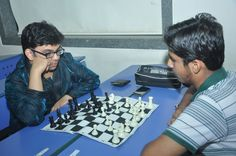 Students playing the mind game at Annual Sports day - Narsee Monjee College of Commerce and Economics.