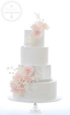 Tracy james coventry eat sleep and passion dreamy pink silver and white wedding cake mightylinksfo Image collections
