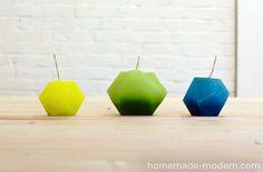 HomeMade Modern DIY Bloktagons Candles and Vases #make #gifts #handmade