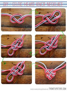 Celtic heart knot necklace…