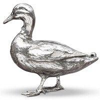 Silverplated Bronze  Duck