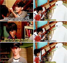 I always loved this- by 'this', I mean the connections in the movie made between Hiro and Tadashi... even after... you know... Tadashi moved on.
