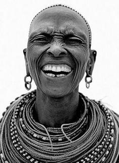 Samburua / 4 - Naguro Lepartingat from Scream London - human - people - face - portrait - black & white Smile Face, Make You Smile, Beautiful Smile, Beautiful People, Maasai People, Africa People, Many Faces, Interesting Faces, People Around The World