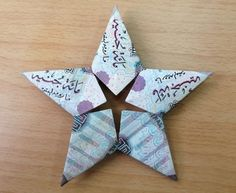 Modular Money Origami Star from 5 Bills - How to Fold Step by Step