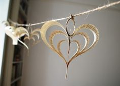 Altered book garland hearts Shakespeare pink green by Bookity