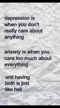 You Can Combat Panic And Anxiety With These Tips. When anxiety is looming, it can be hard to begin your day. You may find yourself avoiding activities you once enjoyed because of how your anxiety will make Angst Quotes, Now Quotes, You Dont Care Quotes, Care Too Much Quotes, Real Quotes, Inspirational Quotes For Depression, Poems About Depression, Symptoms Of Depression, Thoughts