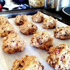 have extra granola? make these cookies! Granola Cookies, Protein Cookies, Protein Foods, Protein Recipes, Meal Recipes, Healthy Recipes, Healthy Food Choices, Skinny Recipes, Sweet Tooth