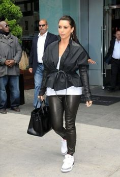 29dcc301111 Kim Kardashian in Jordan Jordan Outfits For Girls, Girls Wearing Jordans,  Cheap Authentic Jordans