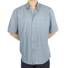 Zanella Shirt Italy Plaid XL Mens SS Button Front Casual Cotton #SomeLikeItUsed