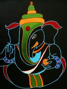 Arte Ganesha, Lord Ganesha, Ganesh Pic, Ganesha Sketch, Ganesh Tattoo, Ganesha Drawing, Shri Ganesh, Rangoli Designs Latest, Beautiful Rangoli Designs