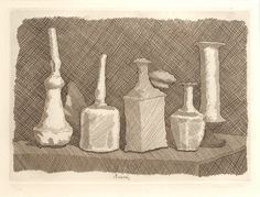 Natura Morta a Grandi Segni Giorgio Morandi - William Weston Gallery Observational Drawing, Cross Hatching, Teaching Art, Archaeology, Still Life, Drawings, Sketches, Imagination, Perspective