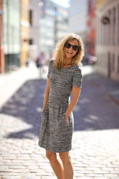 KATZ- this is Such a cute and simple dress. If the fabric is right this would be all year round piece! Would love something like this