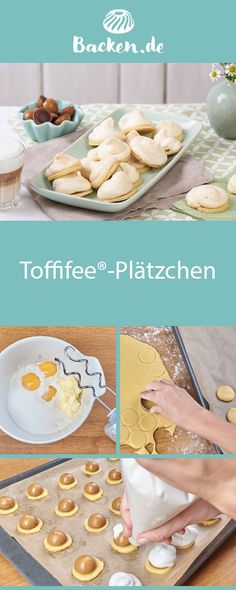 Toffifee® macht auch als Plätzchen Spaß! Mit diesem Rezept lässt sich der s… Toffifee® is also fun as a cookie! With this recipe, the sweet classic can also be enjoyed differently. Keto Meal Plan, Cookies Et Biscuits, Finger Foods, Bakery, Easy Meals, Food And Drink, Sweets, Gluten, Snacks