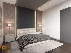 Фото спальня из проекта «Пятикомнатная квартира в стиле минимализм, ЖК «Классика», 208 кв.м.»