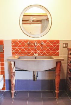Concrete sink produced for Erika Doering Design. Oso Industries. Brooklyn.