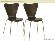 Modern Chairs チェアー2脚セットブラウンダイニング椅子イス北欧 インテリア 雑貨 家具 ¥6980yen 〆05月23日