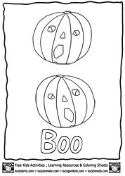 Pumpkin Coloring Pages for Kids at http://www.LucyLearns.com , Free Teacher Resources and Halloween Printables for Kids
