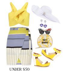 Skirt under $ 50 by ragnh-mjos on Polyvore featuring moda, Delpozo, River Island, Kate Spade, Swarovski and Anna-Karin Karlsson