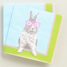 One of my favorite discoveries at WorldMarket.com: Hipster Bunny Lunch Napkins 20 Count