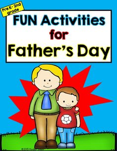 "Father's Day no prep activities just print and go with these simple Father's Day activities.  All dads love to get something special on Father's Day from their children. They especially like when children write out special messages. These activities are a great way to say ""I love you"". This packet includes 11 pages of FUN!   -Writing Paper  -Word Find  -Mystery Message -Father's Day Mini Book  -Card  -Coloring Sheets   -Dad Questionnaire   -Acrostic Poems"