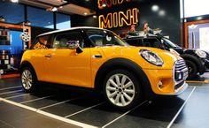 The new MINI @ Automobile Bavaria showroom.