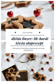 diétás linzer tészta alaprecept: cukormentes, teljes kiőrlésű, IR-barát #thepuur #karácsony #linzer #diétás #cukormentes Sugar Free Desserts, Paleo, Place Card Holders, Breakfast, Fitt, Cards, Recipes, Blog, Drinks